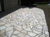 Terrasse mit Polygonalplatten